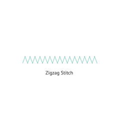 Seamless zigzag sewing or embroidery stitch brush vector