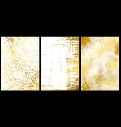 set golden texture backgrounds vector image