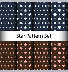 set star seamless pattern background vector image