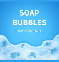 Shampoo foam with bubbles soap sud vector