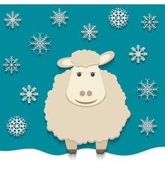sheep - symbol 2015 vector image