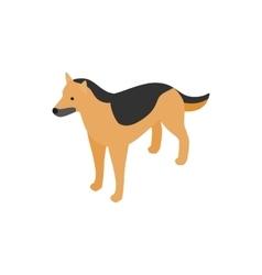 Shepherd dog icon isometric 3d style vector image