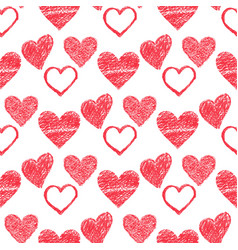 simple red heart sharp seamless pattern vector image vector image