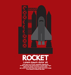 Single Rocket Taking Off On A Mission vector image