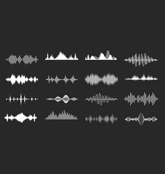 Sound waves playing song visualisation radio vector