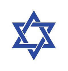 Star david icon of jewish star jew hexagram icon vector