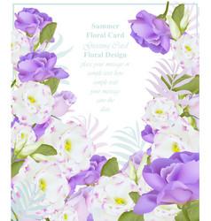 summer watercolor flowers beauty vector image