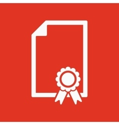 The certificate icon Diploma symbol Flat vector image