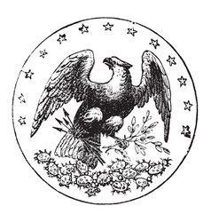 the official seal of the us state of florida in vector image