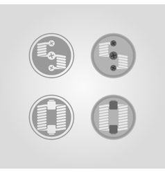Two different designed types of rda vector
