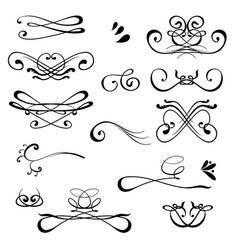 vintage calligraphic design elements set of vector image