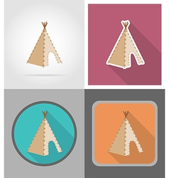 wild west flat icons 01 vector image