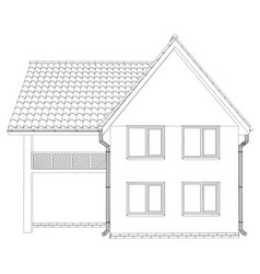 wire-frame house on the white background eps 10 vector image