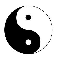 ying yang symbol of harmony and balance on white vector image
