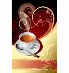 classic background with a cup vector image vector image