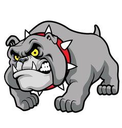 classic bulldog pose vector image vector image