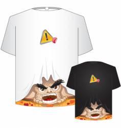crazy t-shirt vector image