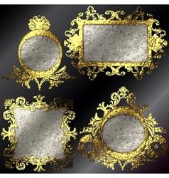 golden frames set vector image