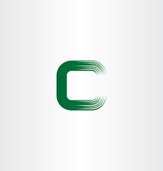 green c letter logotype sign vector image vector image