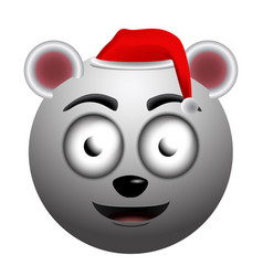 happy polar bear emoji vector image