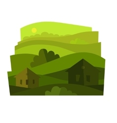 landscape with shrubs vector image