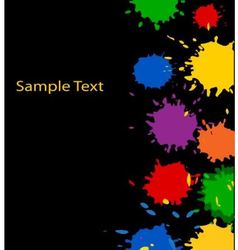 multicolored paint spots vector image vector image