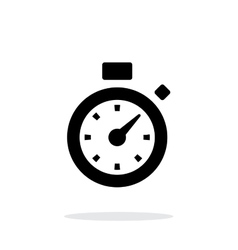 Stopwatch icon on white background vector image vector image