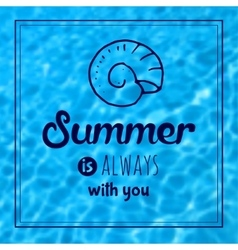 Summer text typography vintage poster vector image