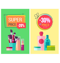 super price and -30 off price vector image