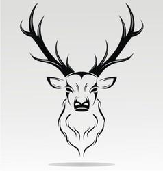 Tribal Deer Head vector image vector image