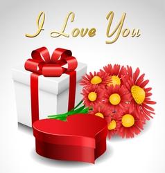 Valentine gift set vector image vector image