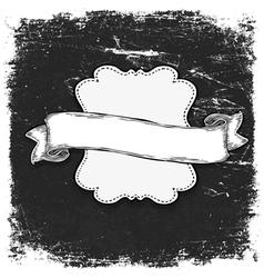 vintage grunge bw banner vector image vector image