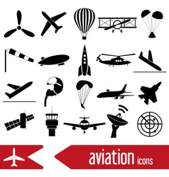 Aviation big set of simple icons eps10 vector