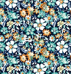 ditsy blue seamless background vector image