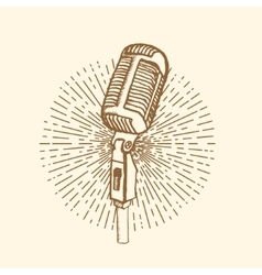 Microphone Vintage style vector image vector image