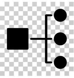 structure diagram icon vector image
