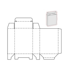 Template of a simple Box Cut out of Paper or vector image vector image