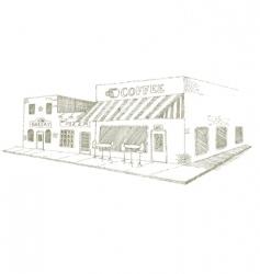 coffee shop vector image vector image