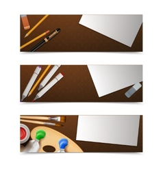 Drawing Banners Horizontal vector image vector image