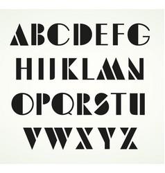 geometric uppercase alphabet vector image