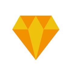 luxury diamond isolated icon vector image