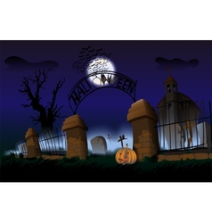 Night of Halloween vector image
