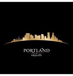 Portland Oregon city skyline silhouette vector image vector image