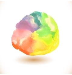 Watercolor rainbow background vector image vector image
