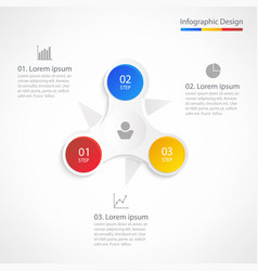 business infographic design template with 3 steps vector image