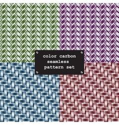color carbon fiber vector image