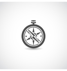 Compass black isolated vector image
