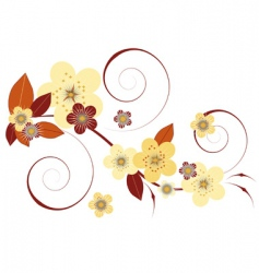 flowers and leaves vector image