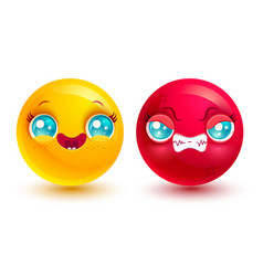 funny and angry emoji vector image vector image