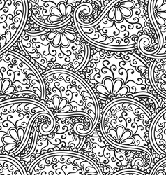 Hand drawn seamless Paisley pattern Doodle style vector image